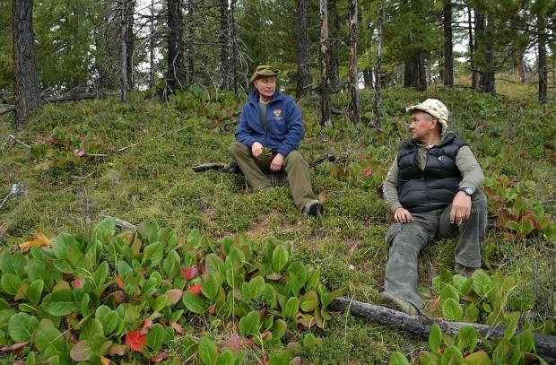 Путин и Шойгу собрали грибы в сибирской тайге